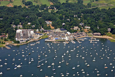 Duxbury Harbor And Downtown Duxbury Poster by Dave Cleaveland