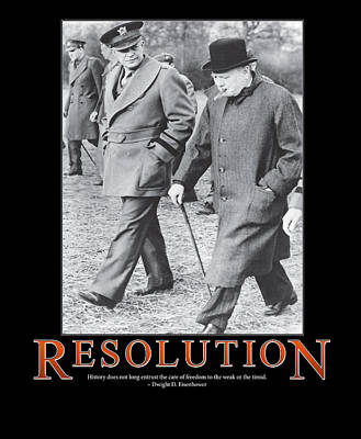 Dwight D. Eisenhower Resolution Poster by Retro Images Archive