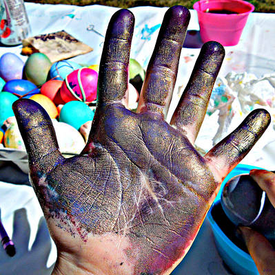 Dyed Hand Poster