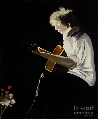 Poster featuring the painting Dylan by Stuart Engel
