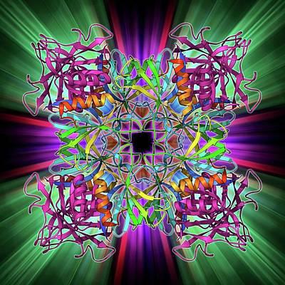 Dynamin Enzyme Poster by Laguna Design