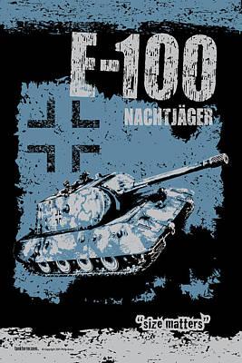 E-100 Nachtjager Poster