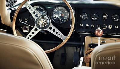 E Type Jag - Interior Poster