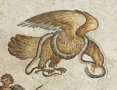 Eagle And Serpent Mozaic Poster