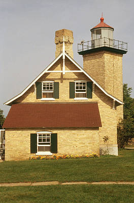 Eagle Bluff Lighthouse, Wi Poster by Bruce Roberts