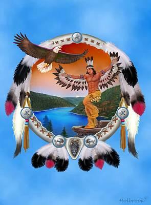 Eagle Dancer Poster by Glenn Holbrook