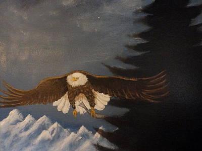 Eagle Flying Poster