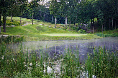 Eagle Knoll - Hole Fourteen - Mist On The Lake Poster