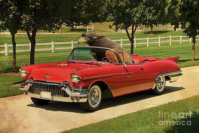 Eagle On Cadillac El Dorado 1957 Poster