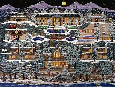 Poster featuring the painting Eaglecrest Resort by Jennifer Lake
