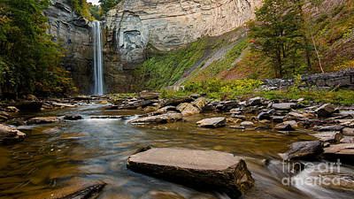 Early Autumn Morning At Taughannock Falls Poster
