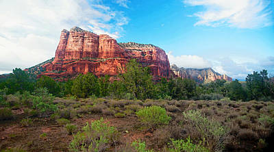 Early Evening Light On Courthouse Butte Poster
