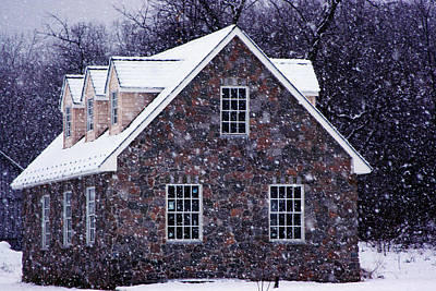 Poster featuring the photograph Early January Snow In Maryland by Andy Lawless