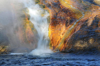 Early Morning At The Firehole River Poster by Michel Hersen