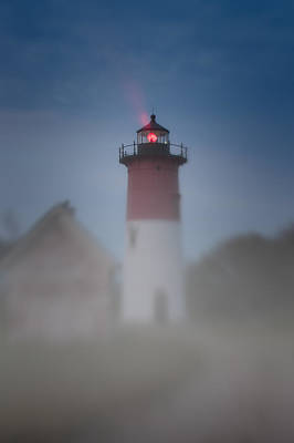 Early Morning Fog At Nauset Lighthouse Poster by Jeff Folger