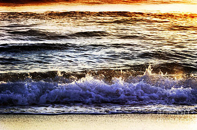 Poster featuring the photograph Early Morning Frothy Waves by Amyn Nasser