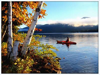 Early Morning Kayaker Poster by Linda Seifried