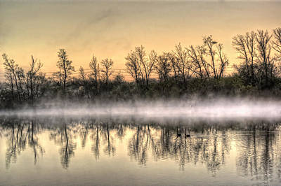 Poster featuring the photograph Early Morning Mist by Lynn Geoffroy