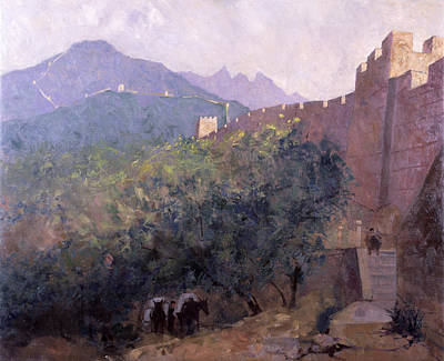 Early Morning - The Great Wall, 1998 Oil On Canvas Poster