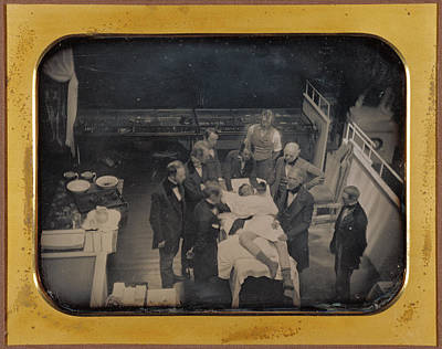 Early Operation Using Ether For Anesthesia Southworth & Poster