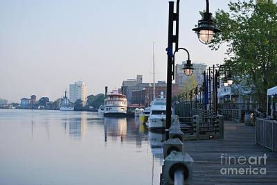 Poster featuring the photograph Early Morning Walk Along The River by Bob Sample