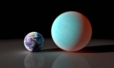 Earth And 55 Cancri Poster