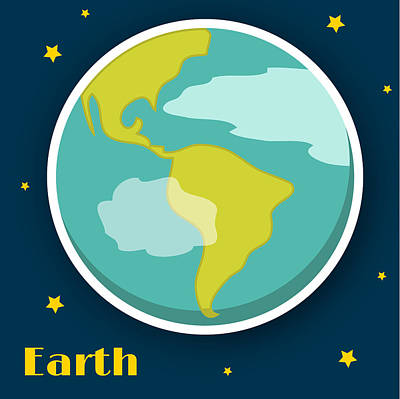 Earth Poster by Christy Beckwith