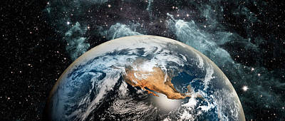 Earth In Space Poster by Panoramic Images