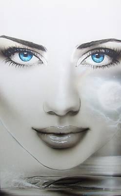 Portrait - ' Earth Moon ' Poster