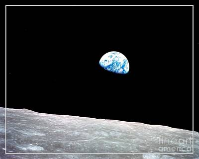 Poster featuring the photograph Earthrise Nasa by Rose Santuci-Sofranko