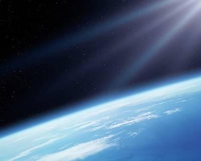 Earth's Atmosphere Poster by Detlev Van Ravenswaay