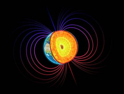 Earth's Core Poster by Andrzej Wojcicki