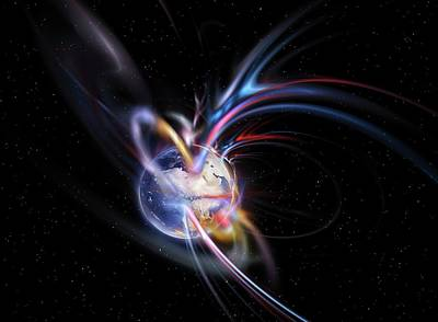 Earth's Magnetosphere Poster by Equinox Graphics