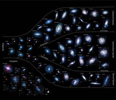 Earth's Neighbouring Galaxies Poster by Nasa/jpl-caltech/k. Gordon (stsci) And Sings Team