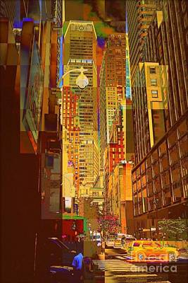 East 45th Street - New York City Poster by Miriam Danar