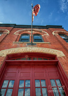East End Fire Station Looking Up Poster