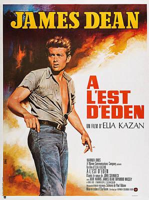 East Of Eden, French Poster Art, James Poster by Everett