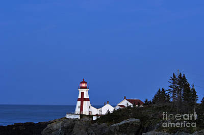 East Quoddy Lighthouse - D002160 Poster by Daniel Dempster