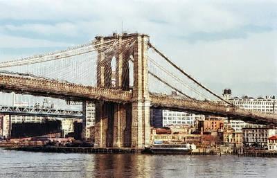 East Tower Brooklyn Bridge - New York Poster