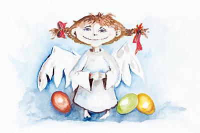 Easter Angel Poster