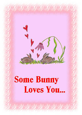 Easter Card Bunnies Poster