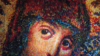 Easter Eggs Mosaic Poster by Iryna Goodall