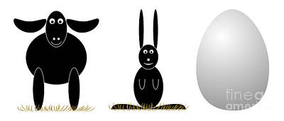 Easter Elements Poster by Michal Boubin