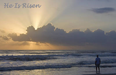 Easter He Is Risen Poster by Dawn Currie