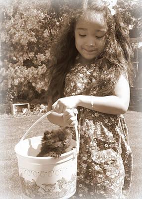 Easter Kitten Poster by Heidi Manly