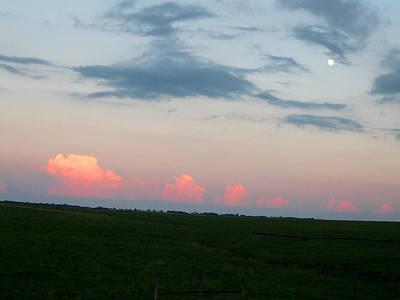Eastern Kansas Moonrise Poster
