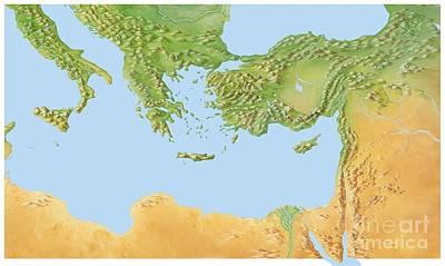 Eastern Mediterranean, Artwork Poster by Gary Hincks