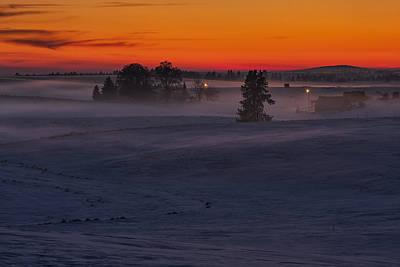 Eastern Washington Winter Sunset Poster by Mark Kiver
