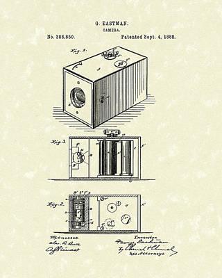 Eastman Camera 1889 Patent Art Poster by Prior Art Design