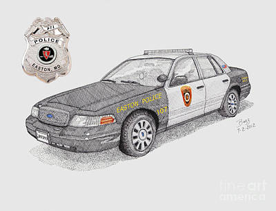 Easton Police Car 107 Poster by Calvert Koerber